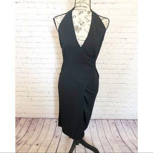 Express Black Halter Cocktail Dress